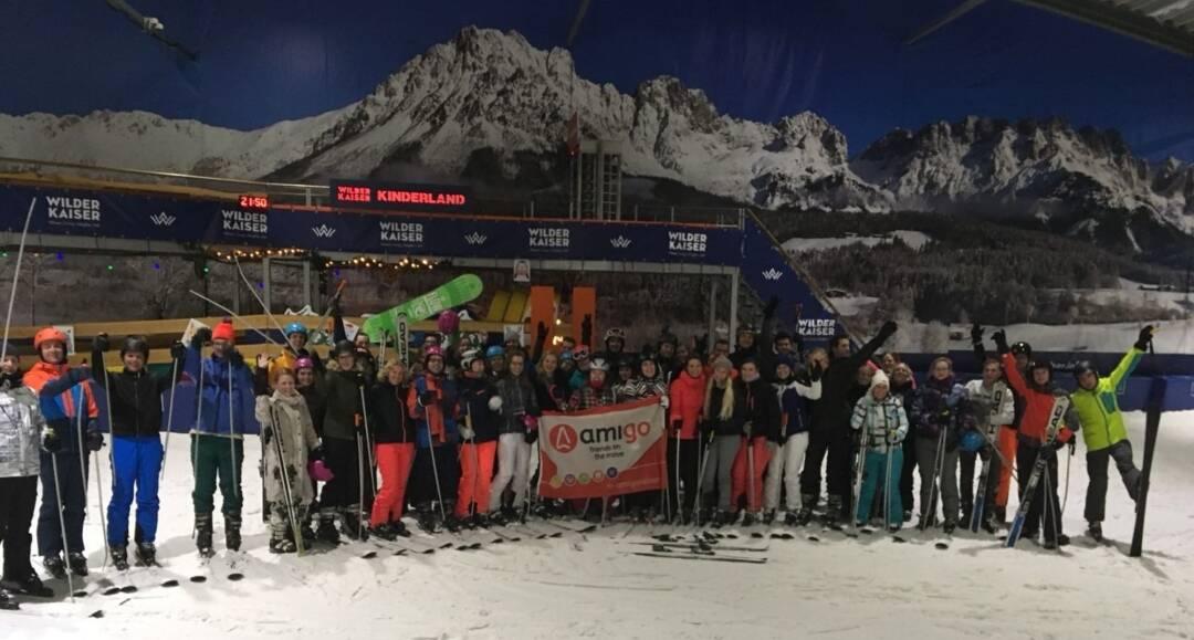 AmiGO Winter Event: Diner The Wrapper & Skiën of snowboarden - Nederland