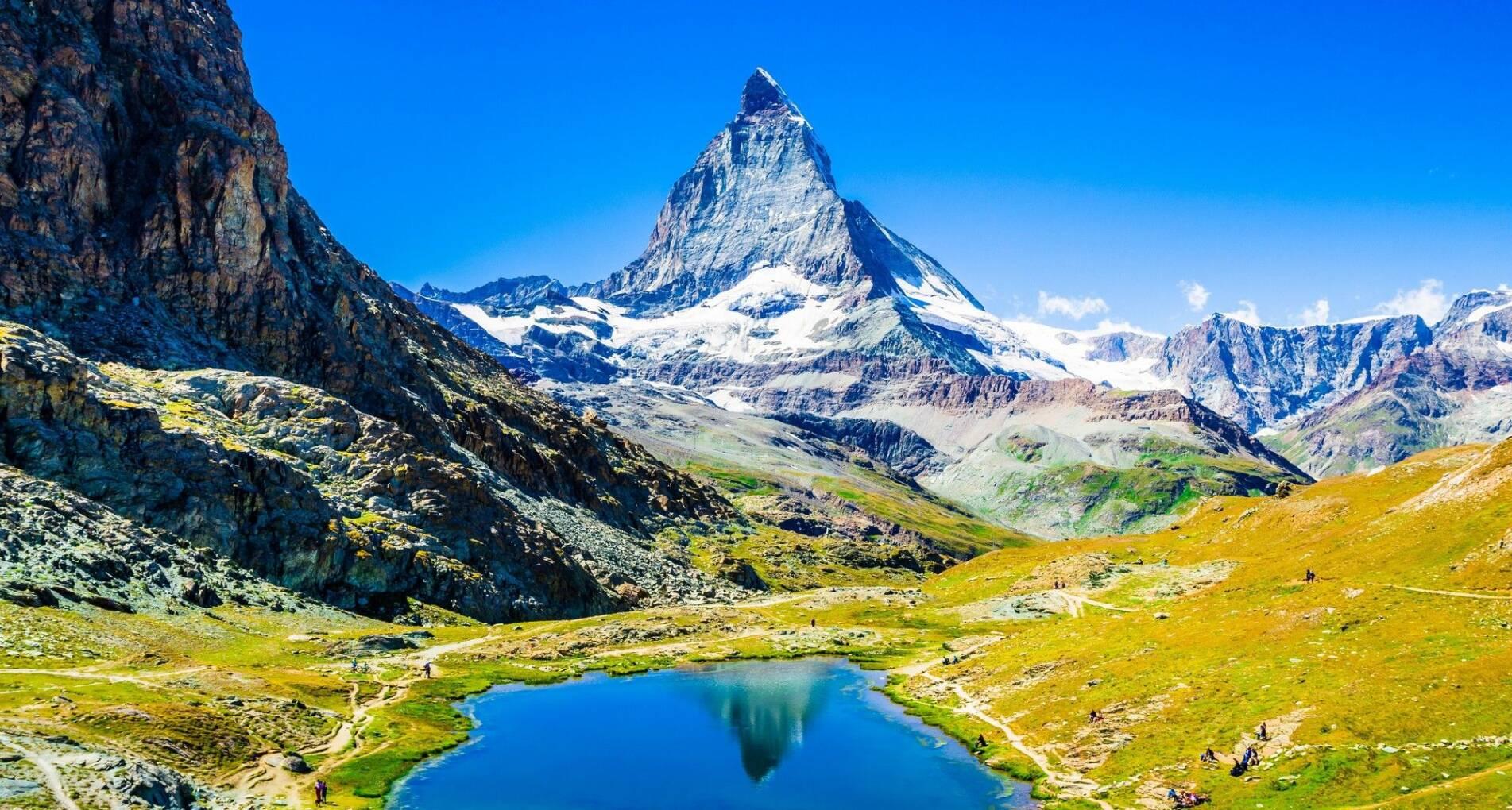 Bergwandelen in de Zwitserse Alpen, Saastal - Zwitserland - 1