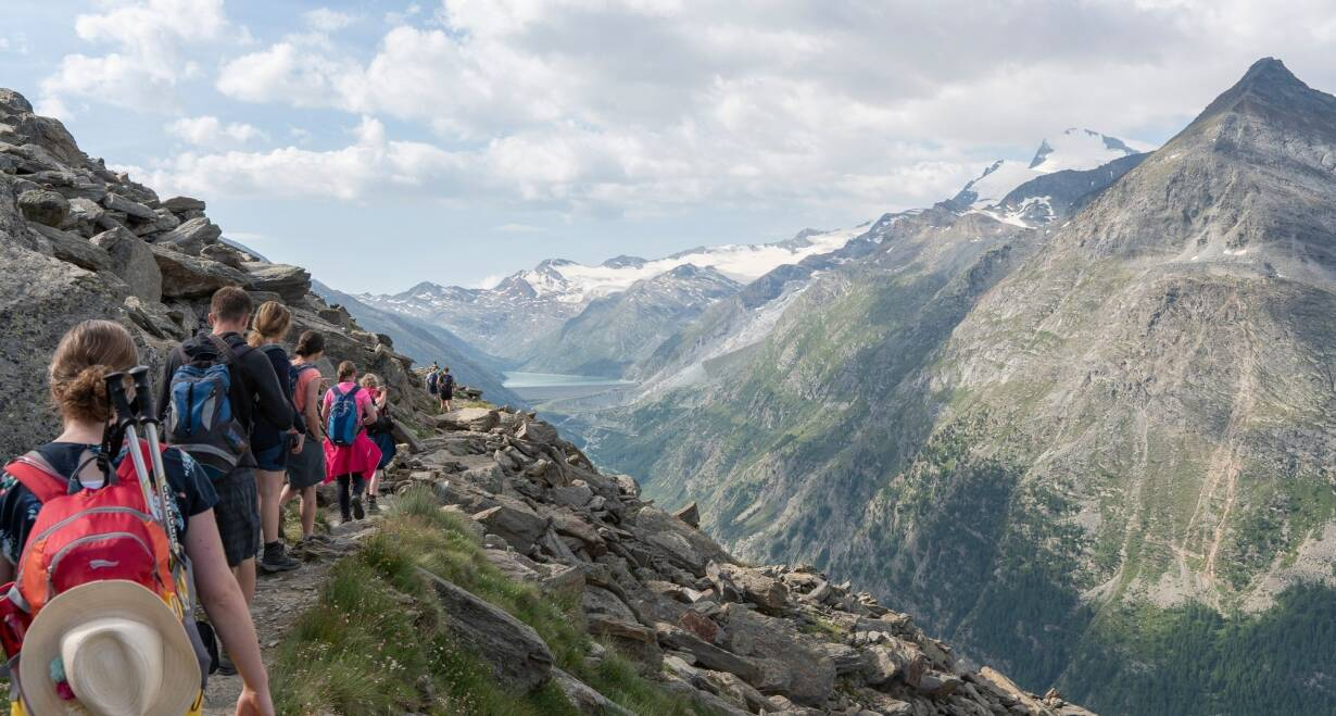 Bergwandelen in het Oostenrijkse Paznauntal - OostenrijkInloopwandeling Galtür