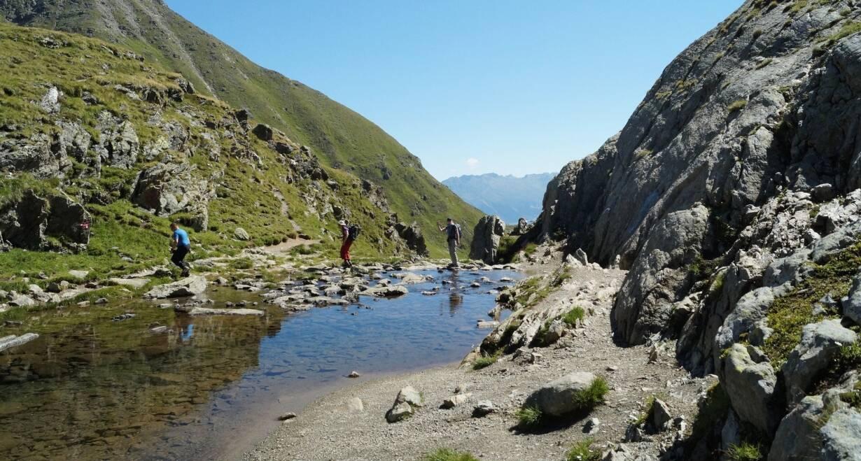 Bergwandelen in het Oostenrijkse Paznauntal - OostenrijkDe Silvretta Stausee