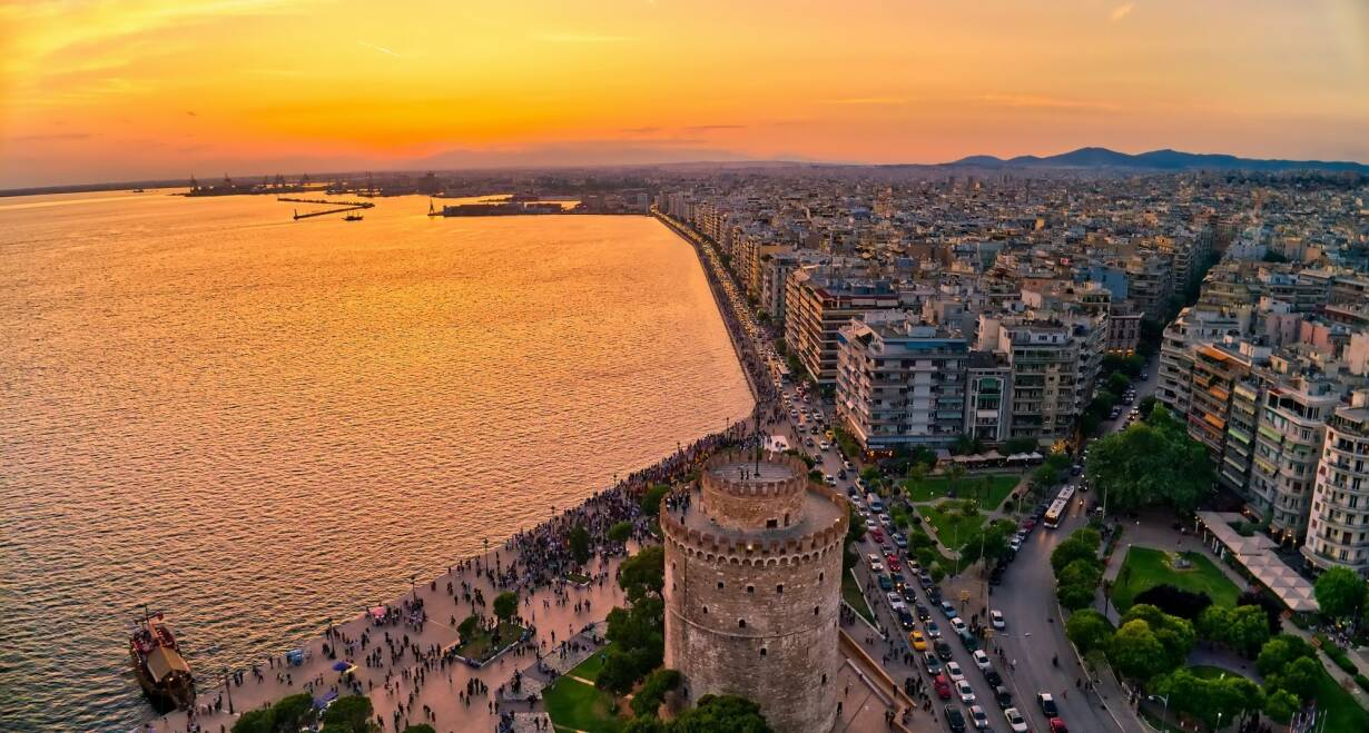 Fly & Drive Griekenland: Thessaloniki, Noord Griekenland en Meteora - GriekenlandLafkos - Thessaloniki